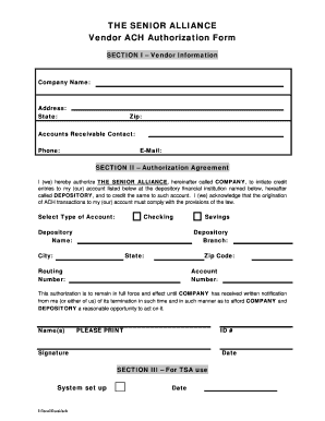 Ach Form Fill Out And Sign Printable Pdf Template Signnow