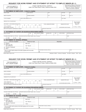 Get And Sign Lodi Ca Unified Work Permit Request 2001-2021 Form