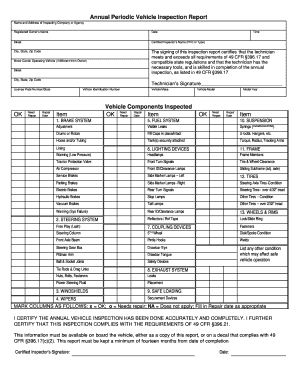 Dot Vehicle Inspection Forms Signnow Fill Out And Sign Printable