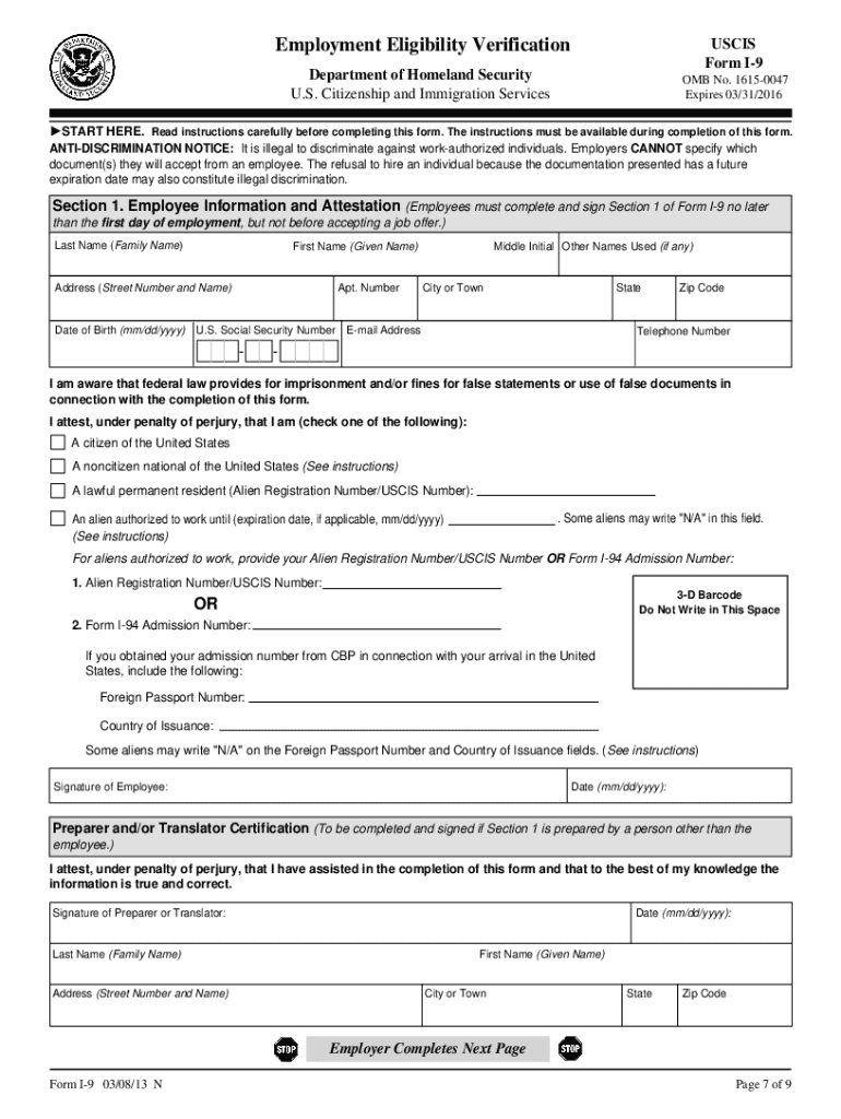 Get And Sign I9 Form