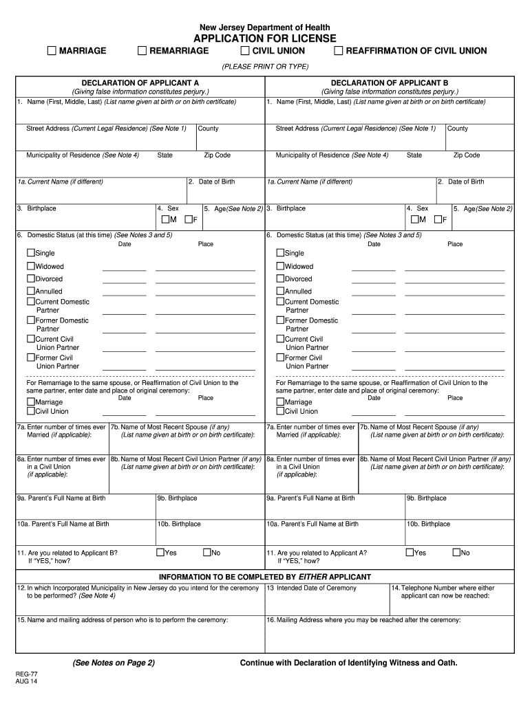 Get And Sign Marriage License Application Form 2014-2021