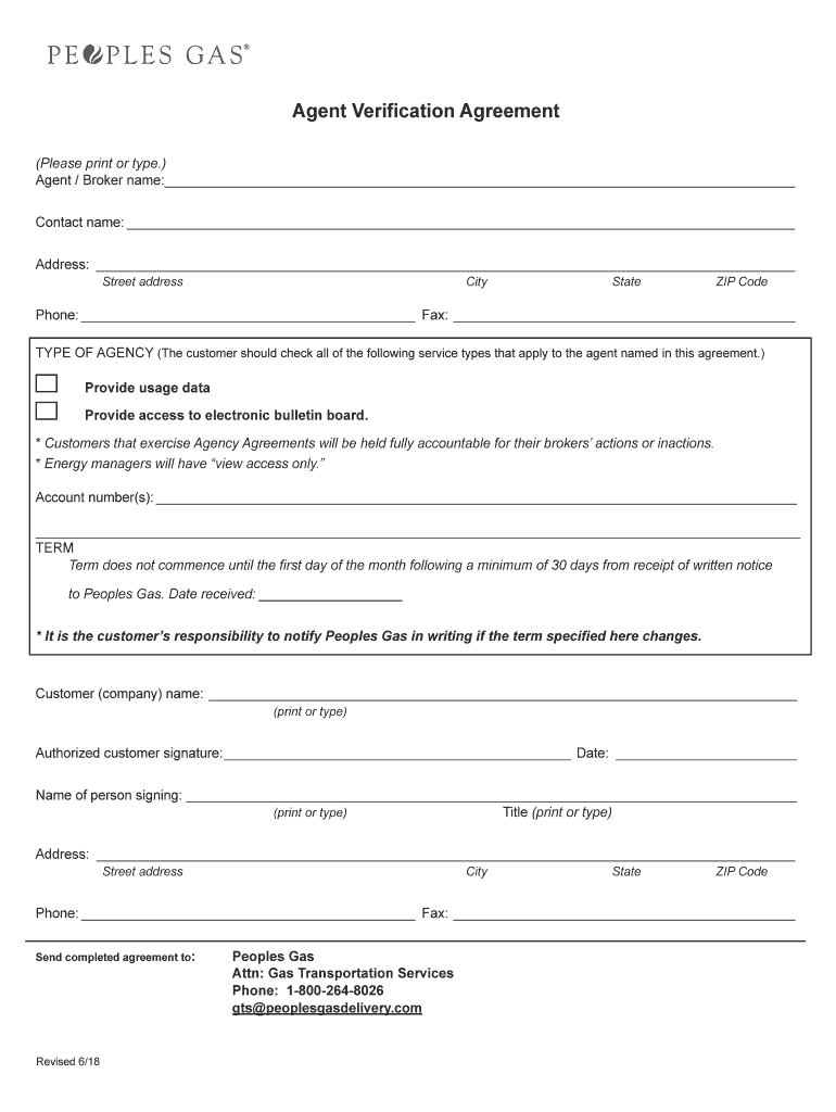 Get And Sign Agent Verification Agreement Minnesota Energy Resources 2018-2021 Form