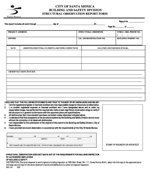 Structural observation form - Fill Out and Sign Printable