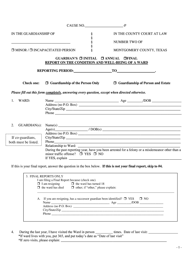 Get And Sign Sample Annual Report Form  Montgomery County  Mctx