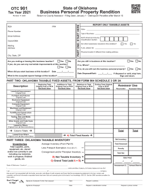 Get And Sign Form 901 Business Personal Property Rendition 2021