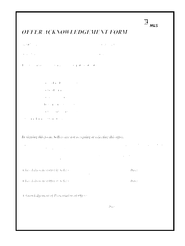 Acknowledgement Form Template Fill Out And Sign Printable Pdf Template Signnow