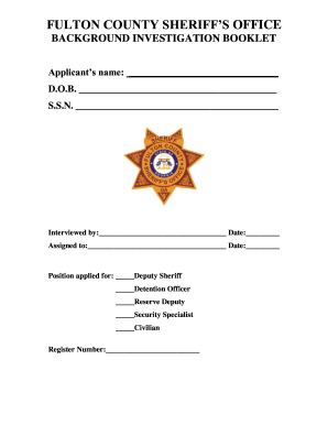Fulton background booklet form - Fill Out and Sign Printable PDF