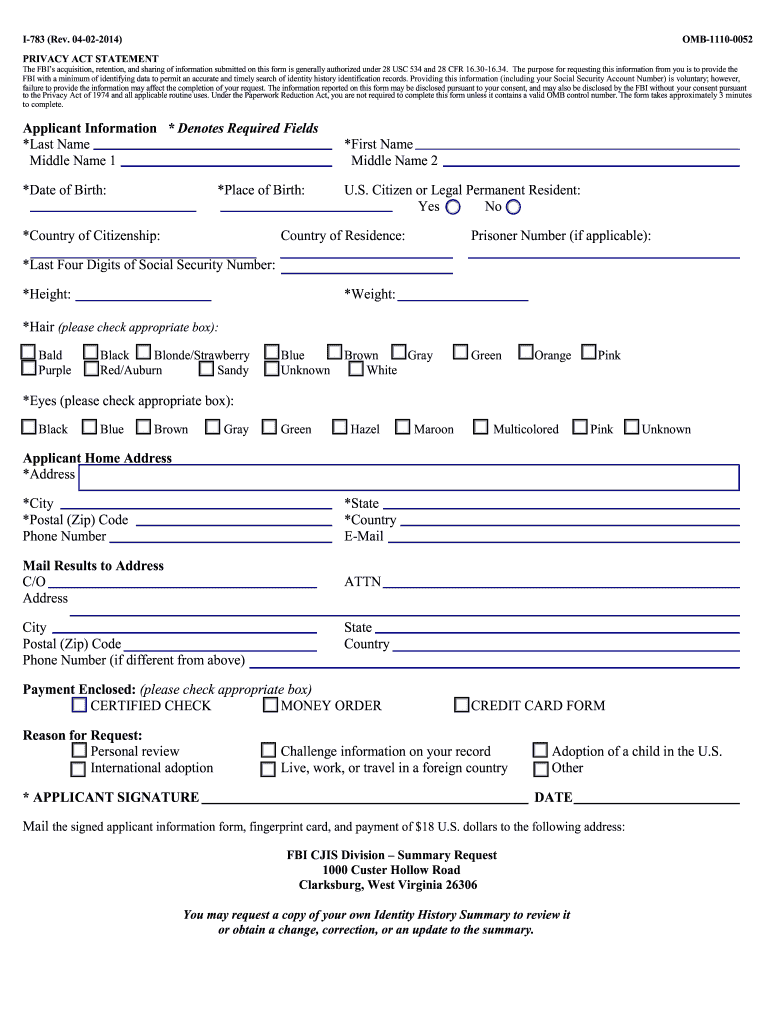 Get And Sign Omb 1110 0052 Form