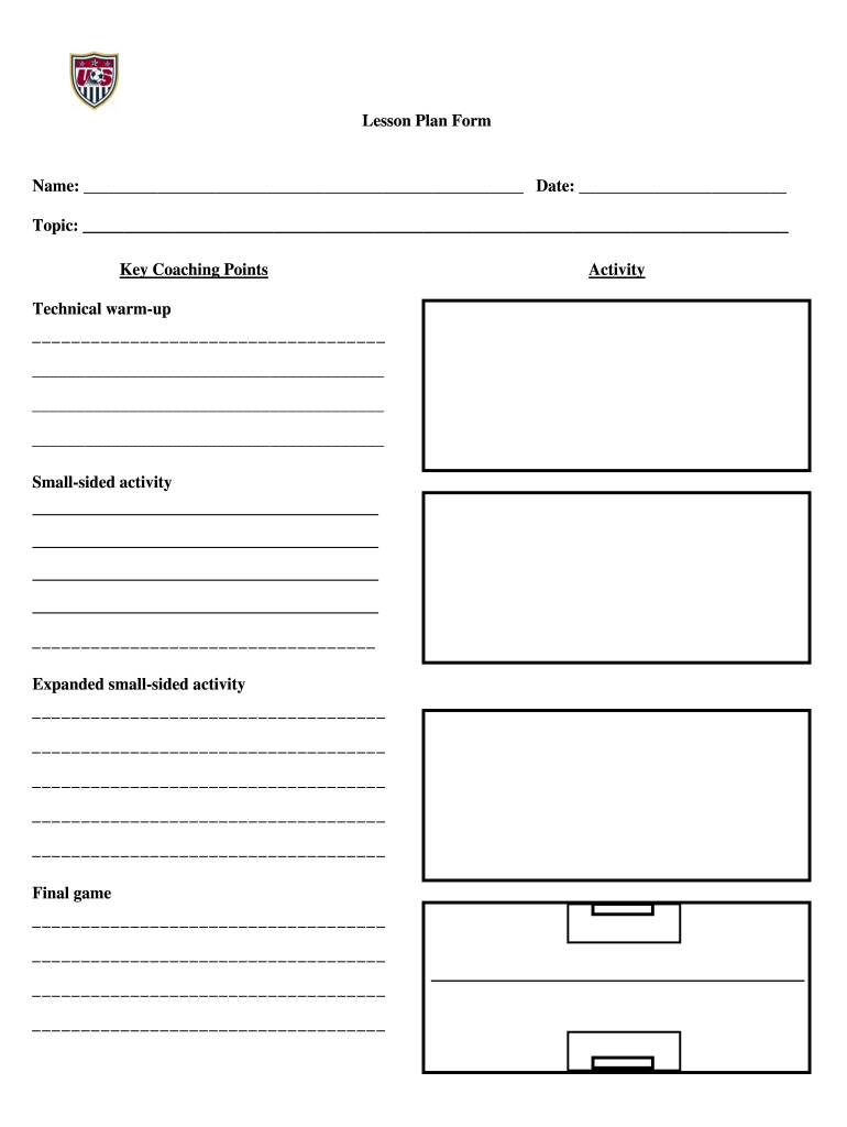 Get And Sign Soccer Practice Plan Template Form