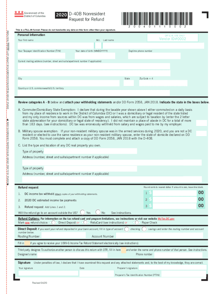 Get And Sign D 40b Form