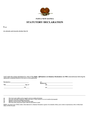 Statutory declaration fill online, printable, fillable, blank.