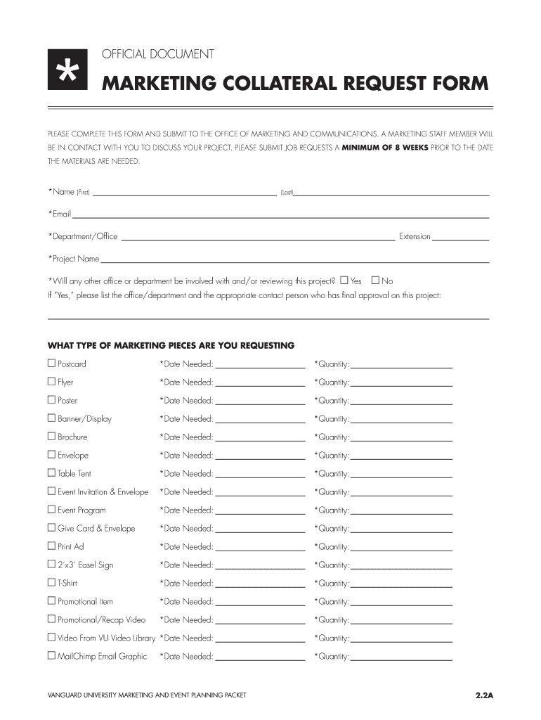 Get And Sign Collateral Request Form