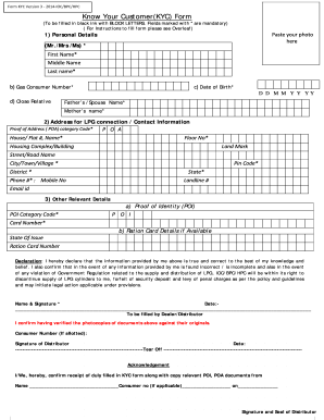 Form KYC Version Know Your Customer ( KYC ) Form - Fill Out