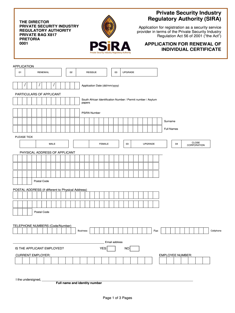 Get And Sign Psira Renewal Form