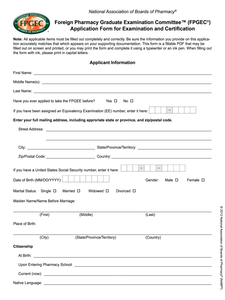 Get And Sign Fpgec Form