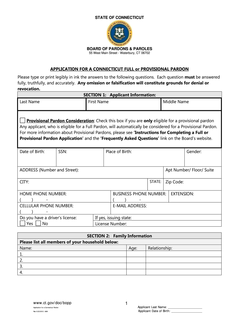 Get And Sign Ct Pardon Application Pdf Form