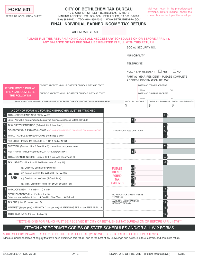 Get And Sign Pa Form 531 Fillable Form 2007-2021