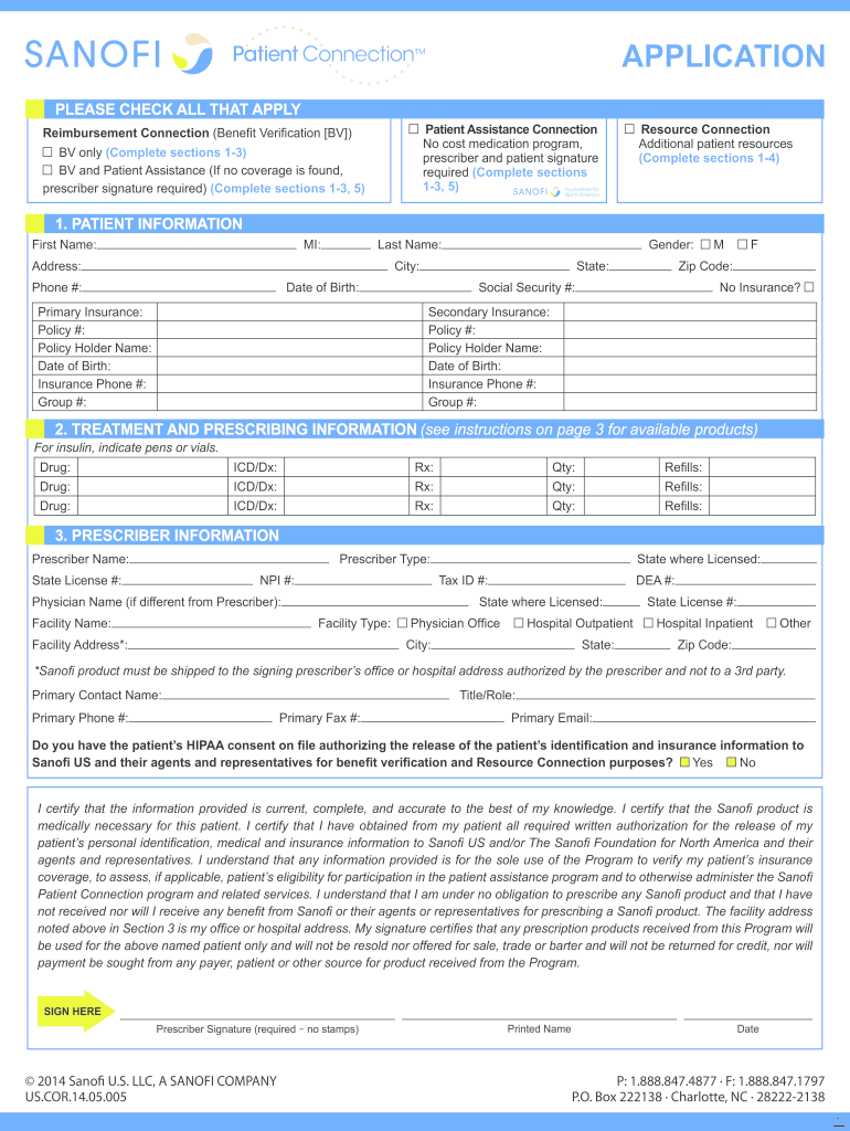 Get And Sign Sanofi Hipaa Consent Form