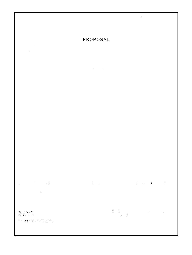 Contractor Proposal Template Fill Out And Sign Printable Pdf Template Signnow