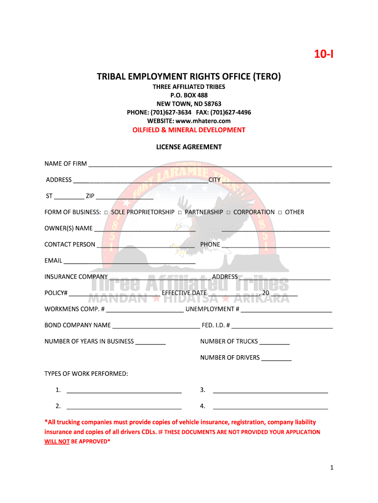 Get And Sign Mha Tero Business License Form