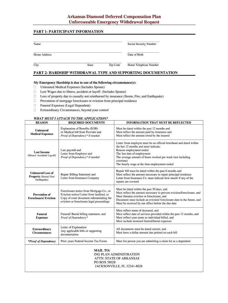 Arkansas Diamond Deferred Compensation Forms Fill Out And Sign Printable Pdf Template Signnow
