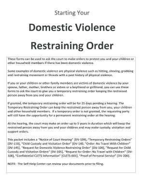 Restraining Order Fill Out And Sign Printable Pdf Template