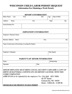 photo relating to Printable Workers Permit named Operate make it possible for variety - Fill Out and Indicator Printable PDF Template