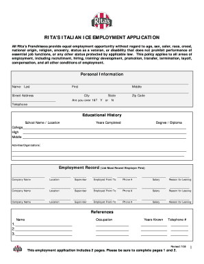 Rita S Application Fill Out And Sign Printable Pdf Template Signnow