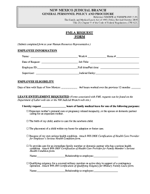 photo regarding Fmla Printable Forms referred to as Region of refreshing mexico fmla ask styles - Fill Out and Signal