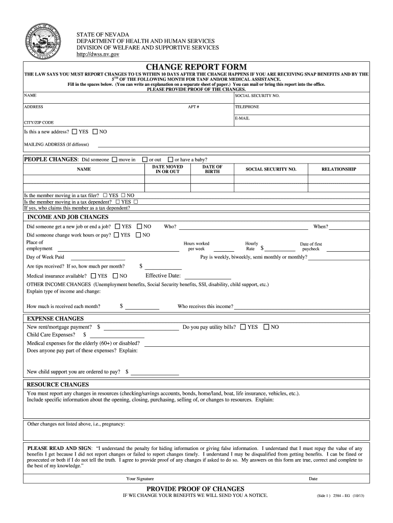 Get And Sign Dwss Nv Gov 2013-2021 Form