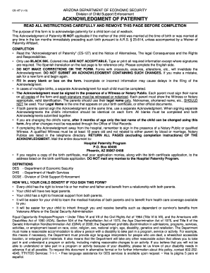 Arizona acknowledgement of paternity form - Fill Out and