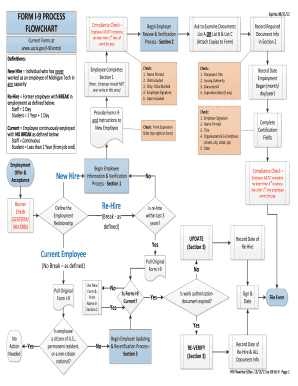 graphic about I 9 Form Printable referred to as Variety I-9 Technique Flowchart - mtu - Fill Out and Indication
