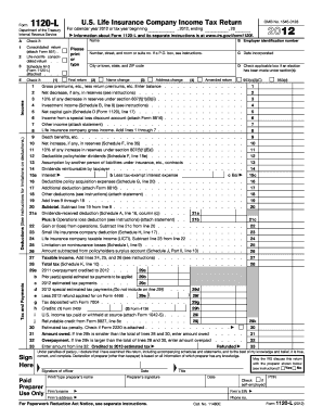Get And Sign 1120 L 2012 Form - Fill Out and Sign Printable