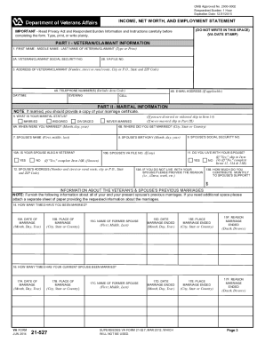 Va form 21 527ez 2012-2019 - Fill Out and Sign Printable PDF