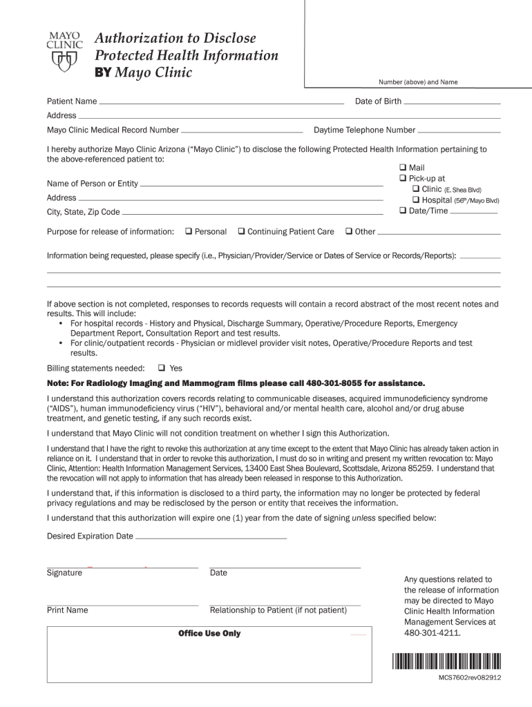 Get And Sign Mayo Clinic Sign In 2012-2021 Form