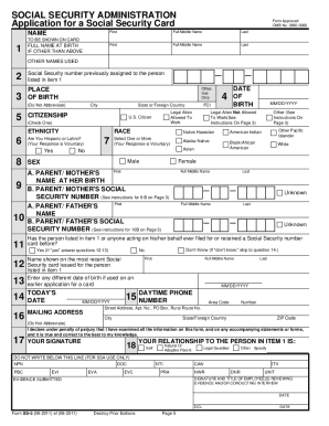 Ss5 2011 2019 Form Fill Out And Sign Printable Pdf Template Signnow