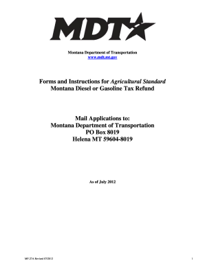Get And Sign Montana Form Refund 2012-2019 - Fill Out and