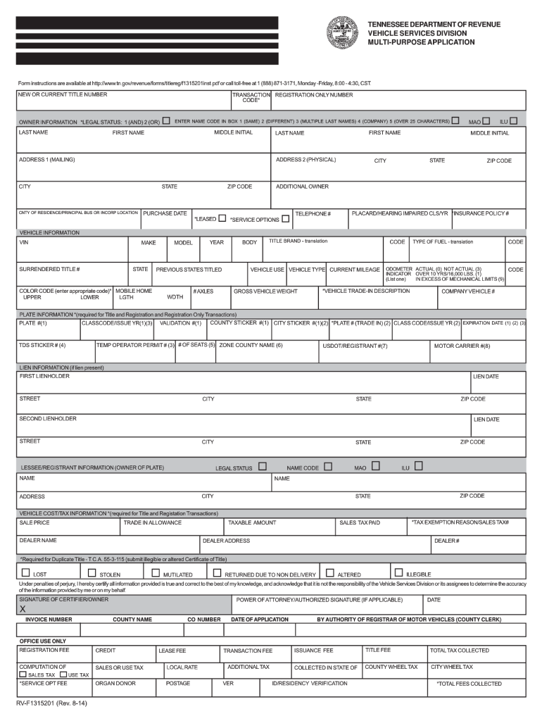 Application Form F1315201 - Fill Out and Sign Printable ...
