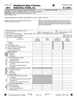 2014 Form K 1 Fill Out And Sign Printable Pdf Template Signnow