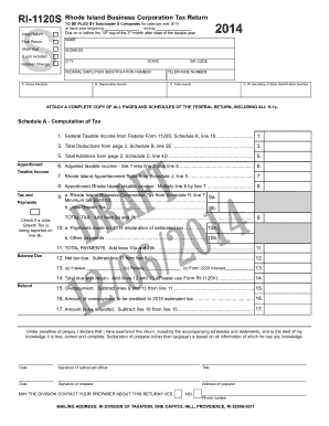 Get And Sign Ri 1120s 2014-2021 Form