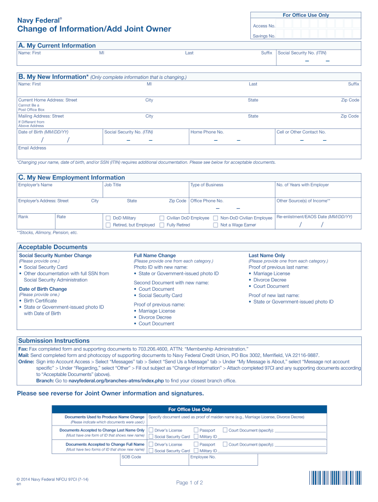 Get And Sign Federal Account Navy 2014-2021 Form