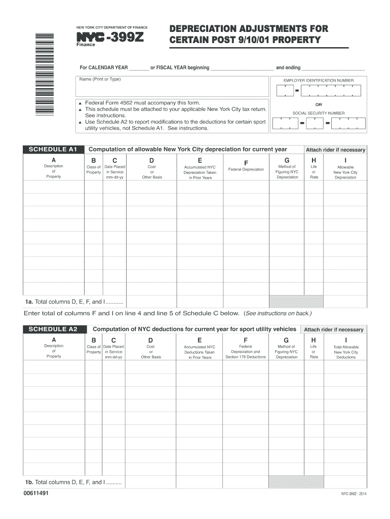 Get And Sign Nyc 399z  Form 2014-2021