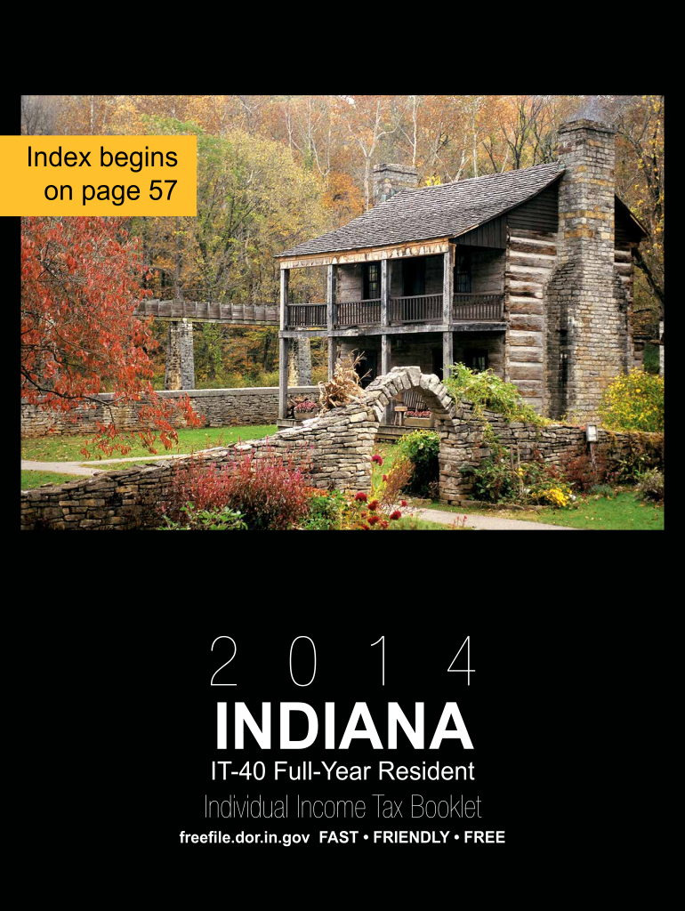 Get And Sign It 40 Indiana Tax Booklet  Form 2014-2021