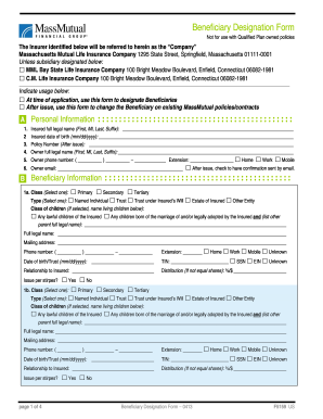 graphic regarding Form Ds 71 Printable known as Beneficiary designation variety 2013-2019 - Fill Out and Signal