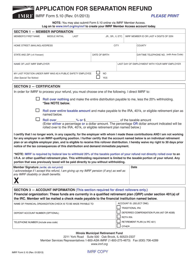 Get And Sign Imrf 2013-2021 Form