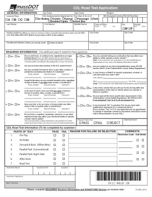 Get And Sign Cdl Application Ma 2015-2021 Form