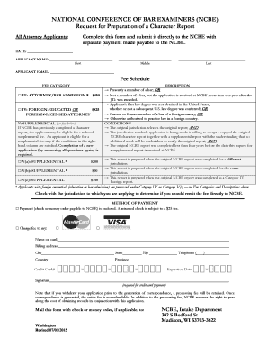 Get And Sign Ncbe Character Report  Form 2015-2021