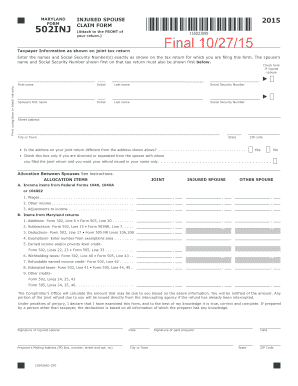 Get And Sign 502inj Form 2019-2021