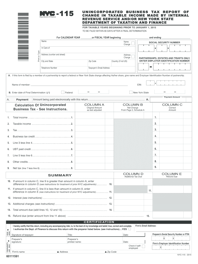 Get And Sign Nyc 115 2015-2021 Form