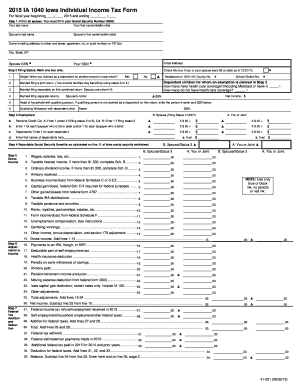 Iowa income tax forms fillable 2015 - Fill Out and Sign